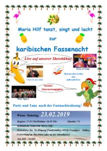 Fastnachtssitzung in Maria Hilf  2019