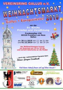 Weihnachtsmarkt 2019 im Gallus und Europaviertel