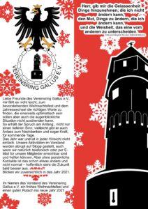 Vereinsring-Gallus Weihnachten 2020
